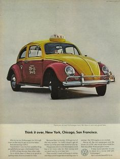 Image detail for -... VW Beetle Ad ~ Taxi Cab, Classic Vintage Volkswagen Beetle & Bus Ads
