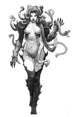 medusa v01 by *AlexPascenko on deviantART || CHARACTER DESIGN REFERENCES | Find more at https://www.facebook.com/CharacterDesignReferences | great tattoo