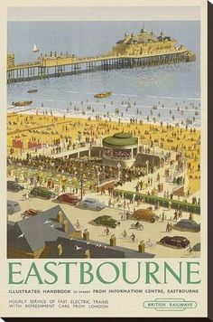 Stretched Canvas Print: Eastbourne : 30x20in