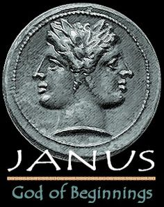 """Janus means """"archway"""" in Latin. Janus was the Roman god of gateways and beginnings, often depicted as having two faces looking in opposite directions. The month of January is named for him. Profile Drawing, God Tattoos, Babylon The Great, Roman Gods, Worship The Lord, Connect The Dots, Two Faces, New Year Celebration, Ancient Romans"""
