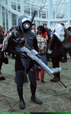 Not gonna lie, even though I sacrificed the Geth, Legion was still a friend that I trusted completely.  Great Cosplay!!