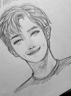 #RM #RapMonster #Namjoon #KimNamjoon #bts #btsfanart #방탄소년단  #chimmiou Cartoon Drawings Of People, Kpop Drawings, Art Drawings Sketches, Drawing People, Cartoon Drawing Tutorial, Korean Art, Kpop Fanart, Copics, Aesthetic Art