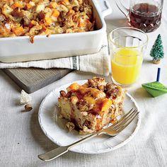 Sweet Potato and Sausage Strata Recipe- tastes good with regular breakfast sausage and Hawaiian rolls instead