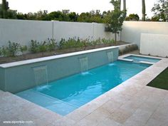 Stock Tank Swimming Pool Ideas, Get Swimming pool designs featuring new swimming pool ideas like glass wall swimming pools, infinity swimming pools, indoor pools and Mid Century Modern Pools. Find and save ideas about Swimming pool designs. Backyard Pool Designs, Small Backyard Pools, Swimming Pool Designs, Pool Landscaping, Outdoor Pool, Backyard Ideas, Small Backyards, Patio Ideas, Pool Decks