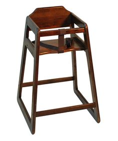 Look at this #zulilyfind! Mahogany Classic High Chair by Old Dominion Wood Products #zulilyfinds