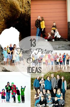 Getting ready for your next family photo or Christmas card picture? Here are 13 great family picture outfit clothing ideas