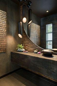 Zen dans la salle de bain décoré bien