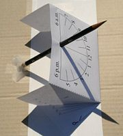 FREE Article and Instructions on How to Make Your Own Sundial! A GREAT summer activity for your kids that costs just pennies to make!