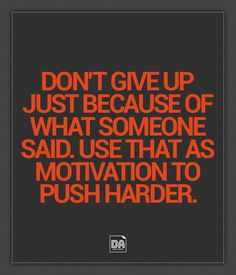 Dont Give Up Quote by Daniel Acevedo, via Behance