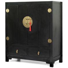 television cabinet black lacquer