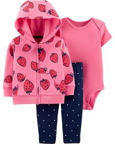 7be7fc08d25 Baby Girl 3-Piece Little Jacket Set