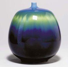 Ceramic artist - Tokuda Yasokichi III born 1933. In 1997 he was named a Living National Treasure as a master of Kutani ware.