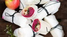 Beetroot, apple and goat's cheese wraps recipe : SBS Food