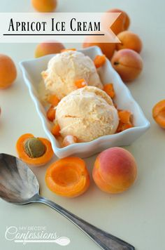 Apricot Ice Cream- This homemade Apricot Ice Cream is easy and irresistible! It is smooth and creamy and makes the perfect dessert! This easy to follow recipe is the best there is!