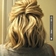 So awesome! - Wedding Guest Hair - Simple, but really cute hairstyle. The best part about it is that she explains how to do it. Theres also quite a few other videos that show you how to do things like curl your hair or french braid, its awesome (especially for someone that generally has two hairstyles - up in a ponytail or all natural and down) | CHECK OUT SOME TO DIE FOR PHOTOS OF TASTY Wedding Guest Hair OVER AT WEDDINGPINS.NET | #weddingguesthair #weddingguests #weddinghai