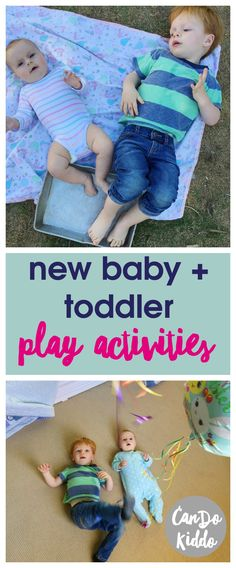 Ways For New Baby And Toddler To Play Sibling play ideas for new baby and toddler. Sibling play ideas for new baby and toddler. The Babys, Toddler Play, Baby Play, New Sibling, Baby Care Tips, Baby Tips, Baby Hacks, Baby Supplies, Second Baby