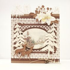 A beautiful Christmas card by Johanna. Paper collection: Christmas in Norway