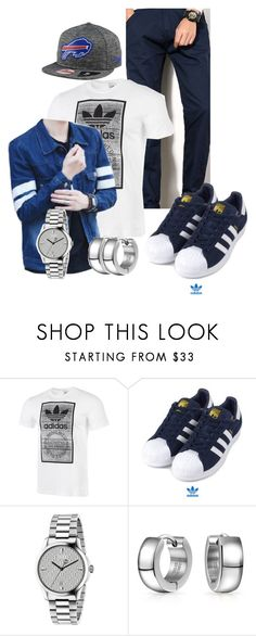 """Korean style 3"" by lovesehunair on Polyvore featuring adidas, adidas Originals, Gucci, Bling Jewelry, New Era, men's fashion and menswear"