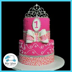 1st birthday  princess leopard cake~~~ I think I may of found Mattie's 1st birthday cake;))