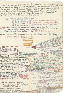 """Gay Talese's outline for his classic profile """"Frank Sinatra Has a Cold"""" (a magazine article)"""