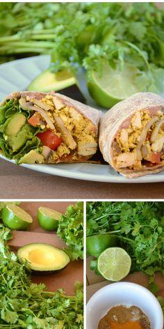 Amazing Healthy Vegan Breakfast Burritos - Easy to make, better than fast-food! Can be gluten-free. #vegan #veganrecipes
