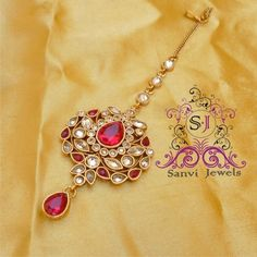 Ruby Antique Maang Tikka - Online Shopping for Maang Tikkas by Sanvi Jewels Pvt. Ltd.