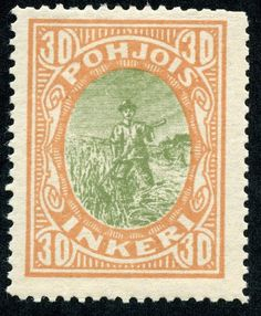 """1920 Scott 9 buff & gray green """"Peasant"""" Quick History Between the River Neva-which flows through St. Petersburg (Petrograd)- and n. Postage Stamps, Finland, Green And Grey, History, Classic, Prints, Vintage, A3, Farming"""