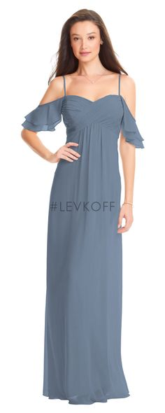 4bb72e9963d1b #levkoff style 7057 Bill Levkoff Bridesmaid Dresses, Cold Shoulder Dress,  Couture