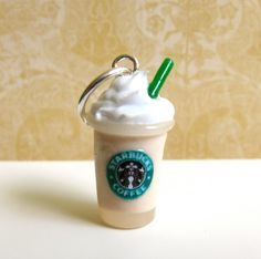 Starbucks Vanilla Bean Frappuccino Charm. $9.00, via Etsy.