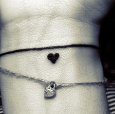 bracelet tattoo heart <3