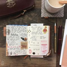 February 13-19. 2017 ✎  Pictured  1. Traveler's Notebook Passport - Brown 2. Passport TN insert No. 007 3. The Superior Labor Pen Case - dark brown 4. Midori Brass Pen  5. Nakaya Piccolo Fountain Pen