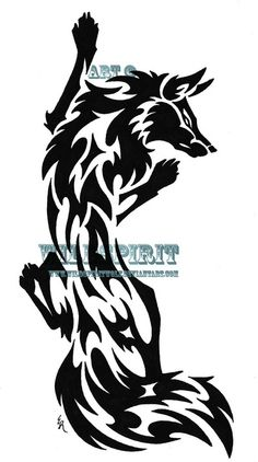 fox tribal tattoo <3