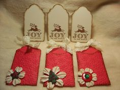 Christmas Piece Set of Very Shabby by JudeAlyssaMarkus Shabby Chic Christmas, Christmas Tag, Christmas Themes, Scrapbook Examples, Handmade Tags, Scrapbook Embellishments, Butterfly Flowers, Mini Albums, Hand Stamped