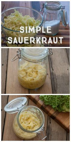 A Simple Sauerkraut Recipe: I was never a huge fan of sauerkraut until I started making my own. Being able to control how fermented or 'funky' your kraut gets makes a huge difference. Try making your own!