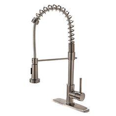 Nutida Utdragbar Pull down Horisontell montering Utdragbar dusch with Keramisk Ventil Singel Handtag Ett hål for Nickelborstad