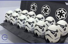 Are you tired of the easy route of dying boring white Easter eggs?  Would you rather pull your hair out trying to make these elaborate Star Wars Easter eggs?  Then check out these 10 pics below for some inspiration. …