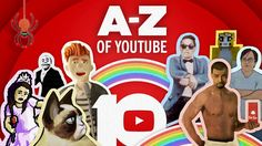 The A-Z of YouTube: Celebrating 10 Years #youtube #happybirthdayyoutube #geek #viral #meme #internet #funny