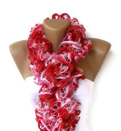 Ruffled Scarf women knitted scarf scarves multicolor 2013 by seno Ruffle Scarf, Scarf Knit, Crochet Ruffle, Baby Girl Fashion, Women's Fashion, Winter Fashion, Long Scarf, Scarf Styles, New Trends