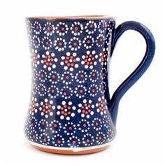 Navy Mug: Hand made navy pottery mug by Milagros.