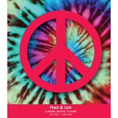 Peace & Love Academic Planner: This academic planner keeps you organized in style throughout the school year. Fitting easily into any book bag or backpack, this calendar is ideal for keeping track of homework, tests, papers, sports stuff and all the other important dates and responsibilities of a student's everyday life.  $4.99  http://calendars.com/Modern-and-Pop-Art/Peace-and-Love-Academic-2013-Planner/prod201300005436/?categoryId=cat00015=cat00015#
