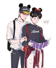 """i went to disney today n couldnt stop thinking about jiminnie mouse #kookmin"""
