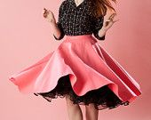 Vintage 1950s Pink Circle Skirt http://www.etsy.com/treasury/MTkwMjc2ODJ8MjcyMzIyODk0OA/whats-the-matter-cat-got-your-etsy?ref=pr_treasury