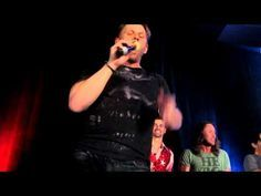 """Oh my god, you guys. Mark Pellegrino (Lucifer) singing """"Sweet Transvestite"""". With Matt (Young John Winchester) and Richard (Gabriel) dancing around in the background xD OMFG WATCH THIS."""
