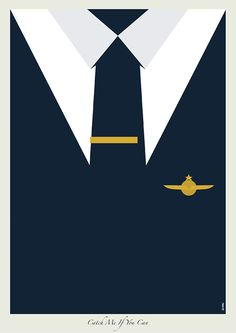 Catch Me If You Can (2002) ~ Minimal Movie Poster by Zi Wei Tan ~ DiCaprio Movie 'Suits' Series #amusementphile