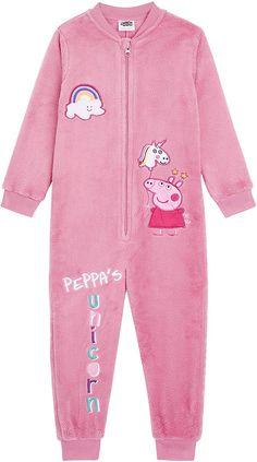 Peppa Pig Onesie Pink Peppa Rainbow Unicorn Design,Super Soft Fleece Onesies, Girls Pyjamas All in One Sleepsuit, Candy Pink Onesie, Unicorn Gifts for Girls Boys 18-24 Months 2-6 Years (5/6 Years): Amazon.co.uk: Clothing Girls Pyjamas, Girls Pjs, Kids Pajamas, These Girls, Onesie Unicorn, Pajama Outfits, Bookmarks Kids, Dream Baby, Unicorn Gifts