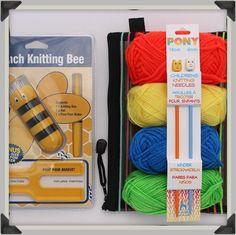 cool Kids Learn to Knit Gift Set Pom Pom Maker, School Holidays, Crochet Gifts, Birthday Presents, Knitting Needles, Kids Learning, Cool Kids, Gifts For Kids, Entertaining