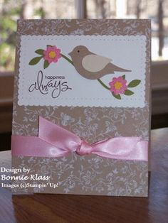 Uses Stampin' Up Bird Punch.  By Bonnie Klass