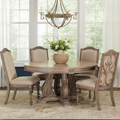 Coaster Ilana Traditional Round Dining Table With Detailed Awesome Coaster Dining Room Furniture Inspiration Design