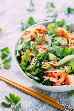 Salmon, Tamari and Soba Noodle Salad