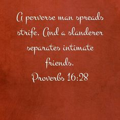 Proverbs 16:28
